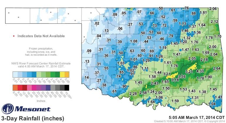 Oklahoma Farm Report - Rainfall Totals Good in Eastern ...